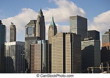 nouveau, ville, architecture, york