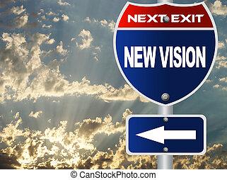 nouveau, vision, panneaux signalisations