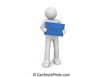 nouveau, vous, avoir, courrier