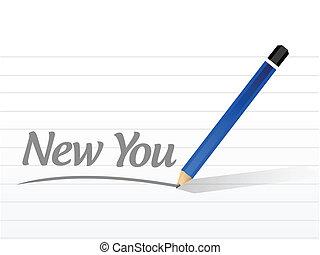 nouveau, vous, conception, message, illustration