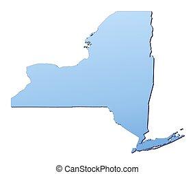 nouveau, york(usa), carte