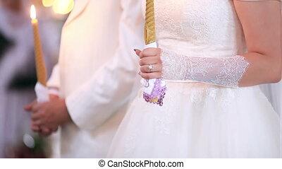 nouveaux mariés, cérémonies, église