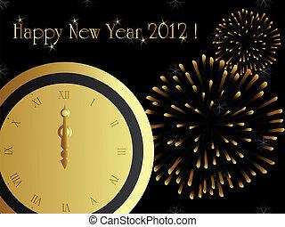 nouvel an, 2012, eps8, carte