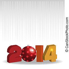 nouvel an, -, 2014