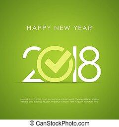 nouvel an, conception, 2018, affiche