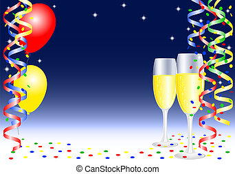 nouvel an, fond, fête