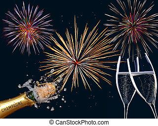 nouvel an, heureux
