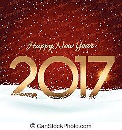 nouvel an, heureux, fond, neigeux