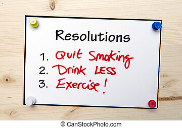 nouvel an, resolutions, note