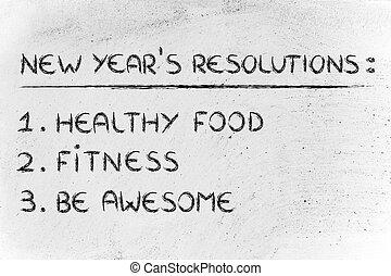 nouvelle année, fitness, resolutions:, gymnase