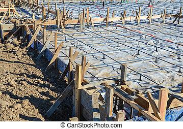 Maison nouveau b ton fondation image recherchez for Site construction maison