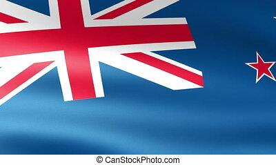 nouvelle zélande, drapeau ondulant