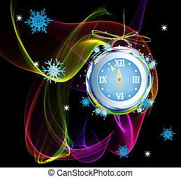 nouvelles années, horloge