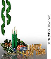 nouvelles années veille, fête, invitation