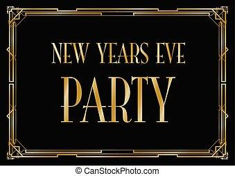 nouvelles années veille, fond, fête