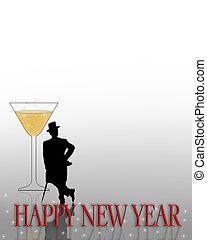 nouvelles années veille, invitation