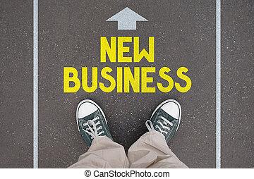 nouvelles chaussures, -, entraîneurs, business