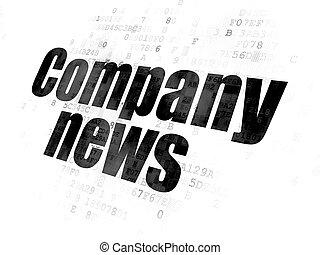 nouvelles, compagnie, concept:, fond, numérique
