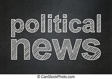 nouvelles, concept:, politique, tableau, fond