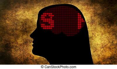 nouvelles, esprit, concept, brainwashed
