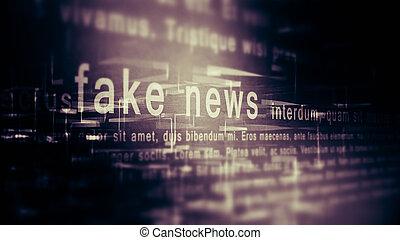 nouvelles, fond, faux