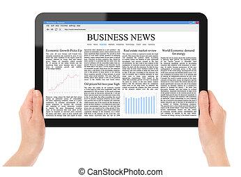 nouvelles, lecture, pc tablette