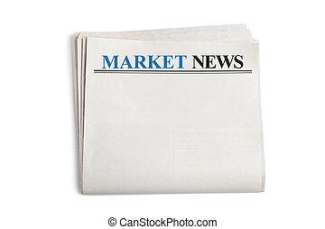 nouvelles, marché