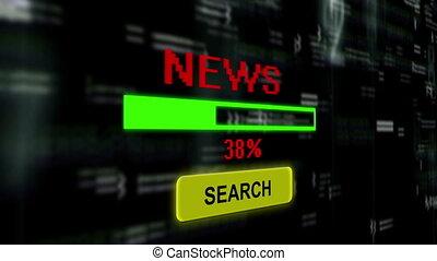 nouvelles, recherche, ligne