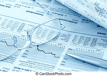 nouvelles, revue, toned), finance, (blue