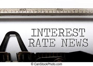 nouvelles, taux, intérêt