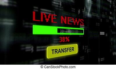 nouvelles, vivant, transfert