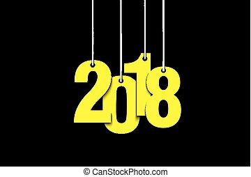 nový rok, číslice, 2018