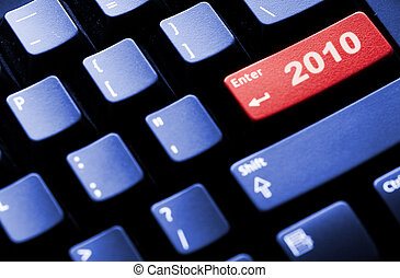 nový rok, 2010, business pojem