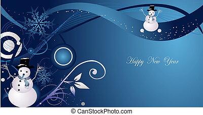 nový rok, grafické pozadí