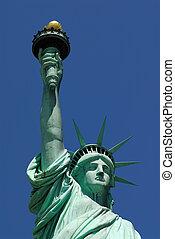 nova iorque, estátua, liberdade