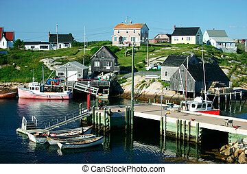 This is a fishing village, Peggy's Cove, Nova Scotia, Canada.