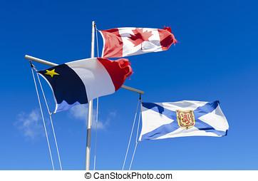 Nova Scotia Flag - Canadian Flag Acadian Flag and Nova...
