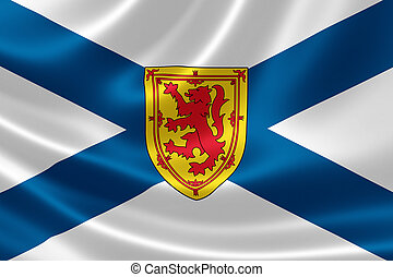 Nova Scotia Provincial Flag of Canada - 3D rendering of the...
