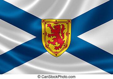 Nova Scotia Provincial Flag of Canada - 3D rendering of the...