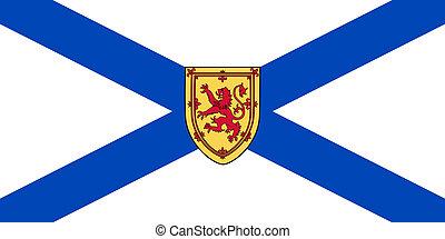 Illustration of Nova Scotia Canadian state of flag, Canada.