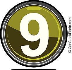 nove, logotipo, desenho, modelo, vetorial