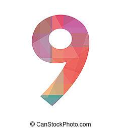 nove, numero, colorito