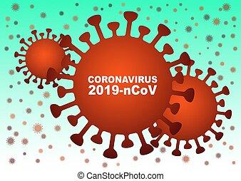 Vector influenza virus background. Concept asian flu ...