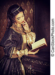 novel heroine - Renaissance Style - beautiful young woman in...