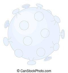 novela, coronavirus, covid-19, célula, ilustración, virus., ...