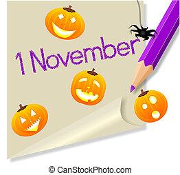 """""""november, 1"""""""