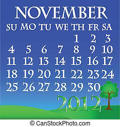 November 2012 landscape calendar