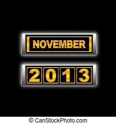 November 2013.