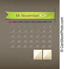 November 2013 calendar ribbon
