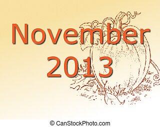 november, 2013